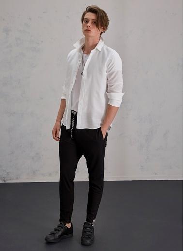 Pi π Kemer Detaylı Pantolon Siyah